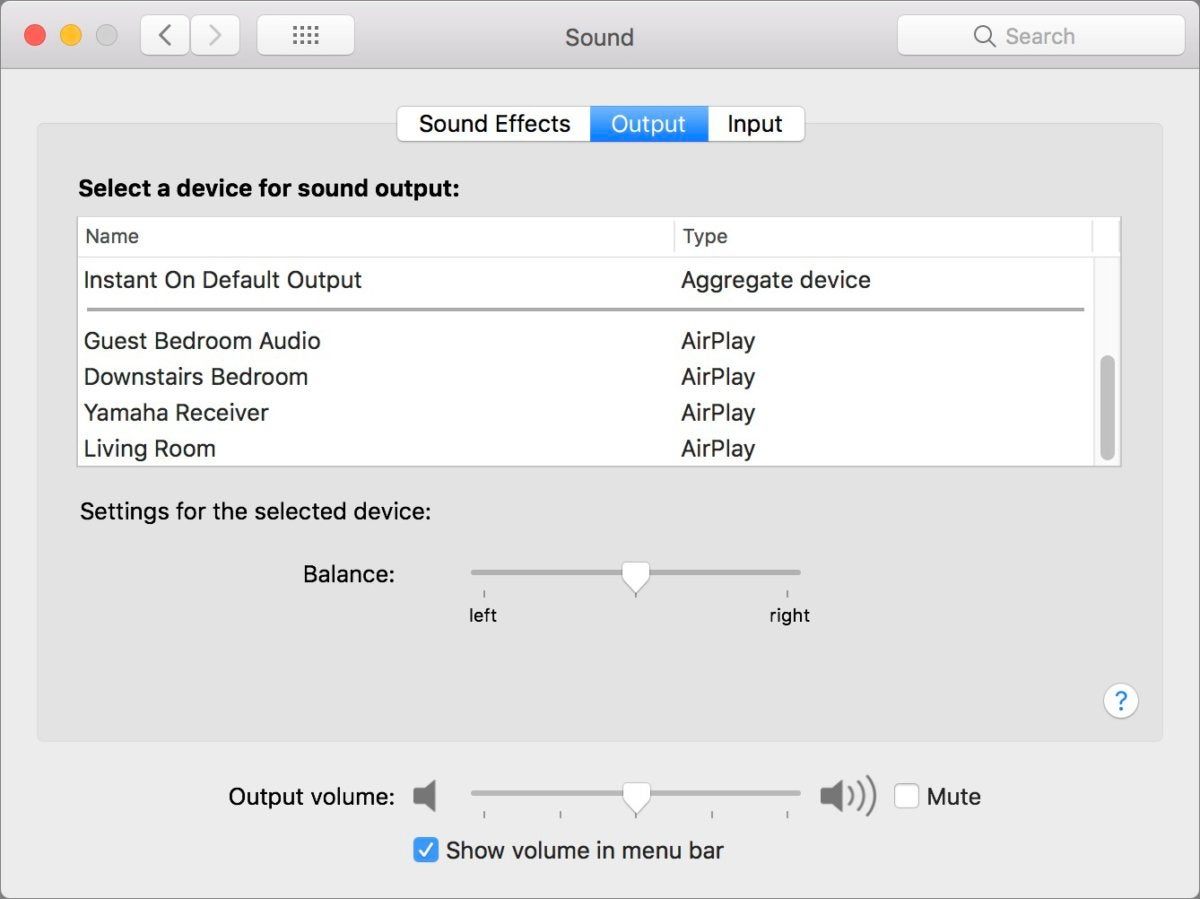 mac911 input choices for airplay