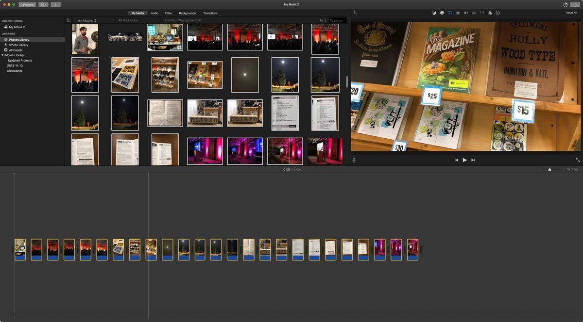 mac911 slideshow via imovie
