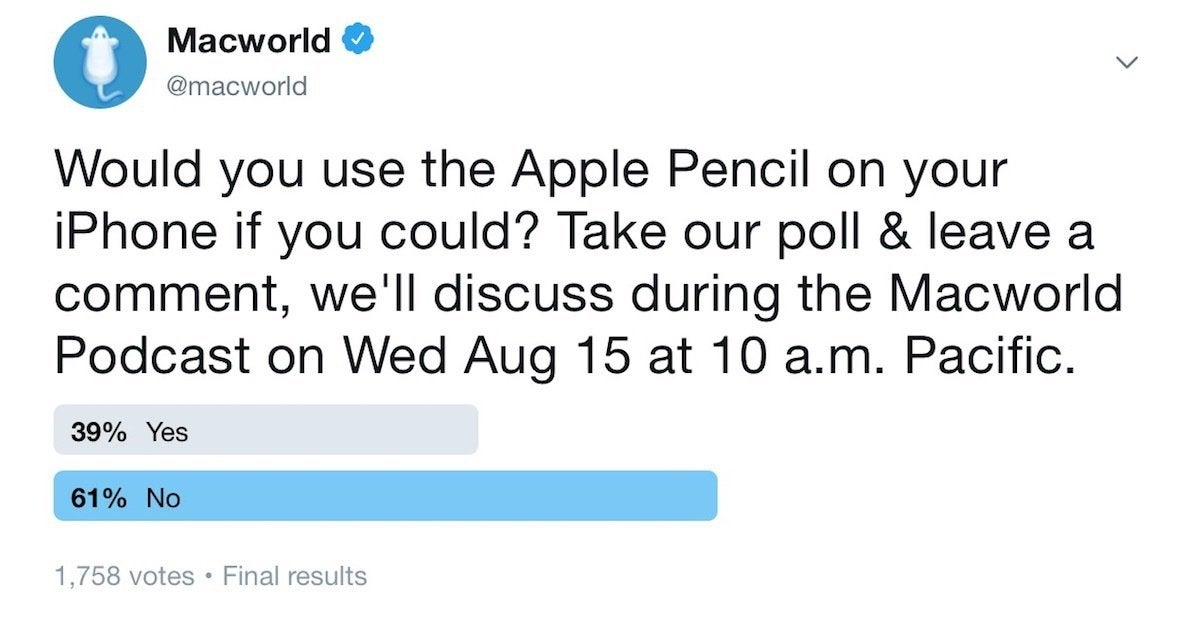 macworld podcast poll 08152018