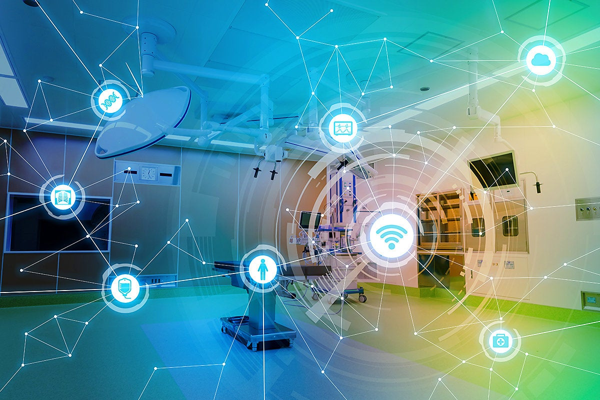 medical network h/ ealthcare IoT / hospital connections and communications