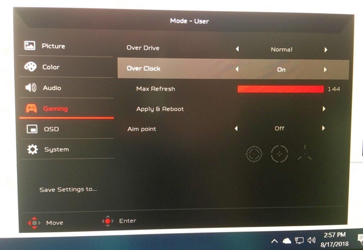 monitor overclocking