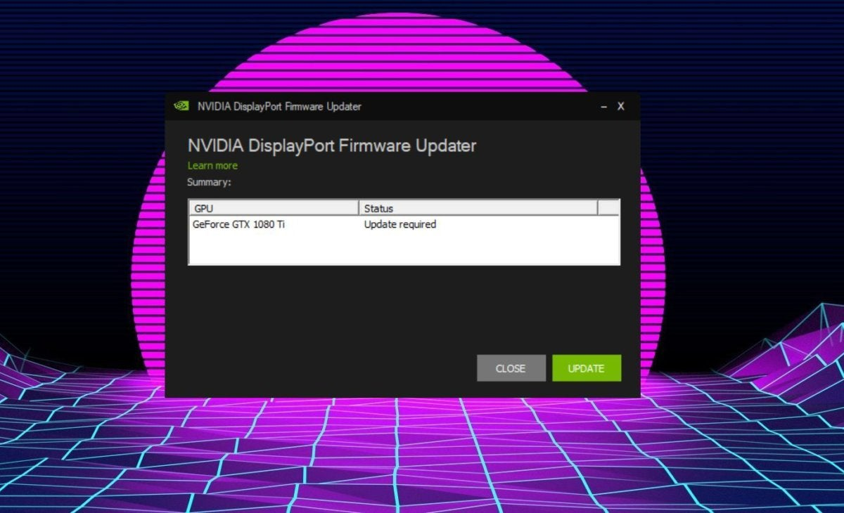 nvidia displayport firmware