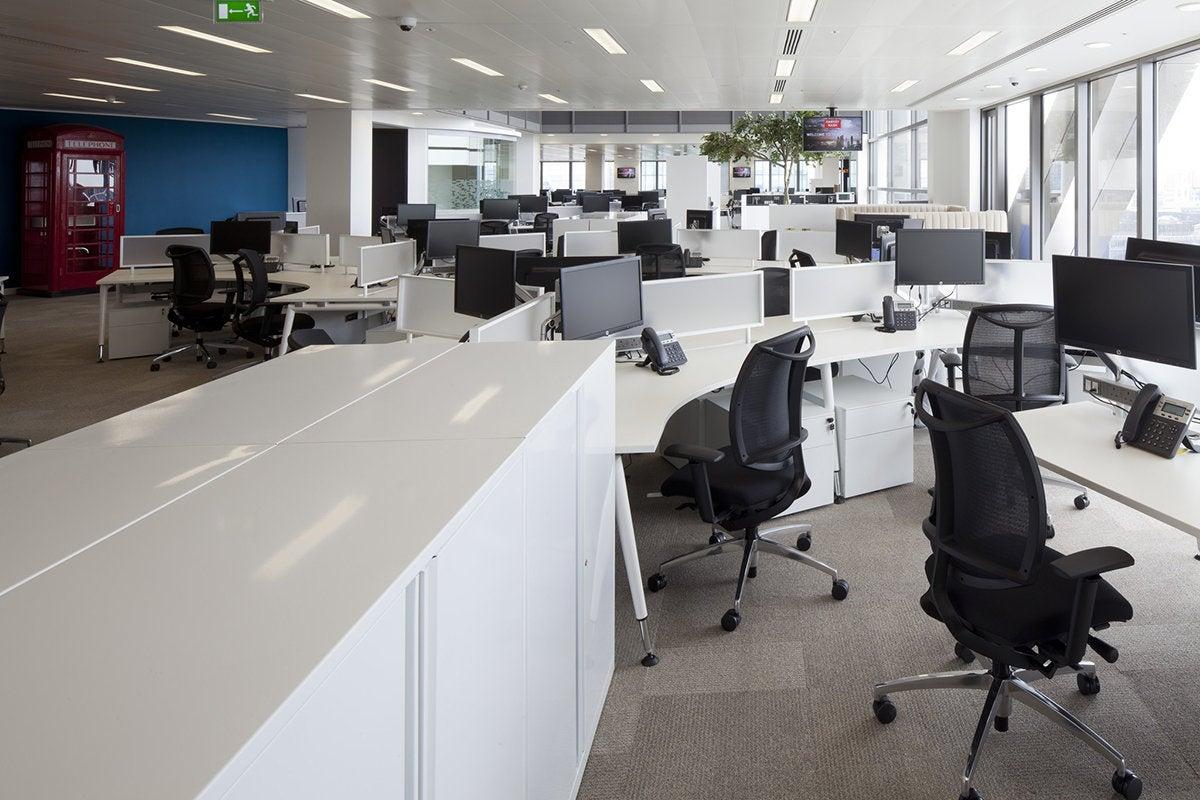 open office workplace