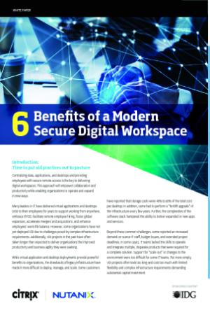 Discover the 6 Benefits of a Modern, Secure Digital Workspace