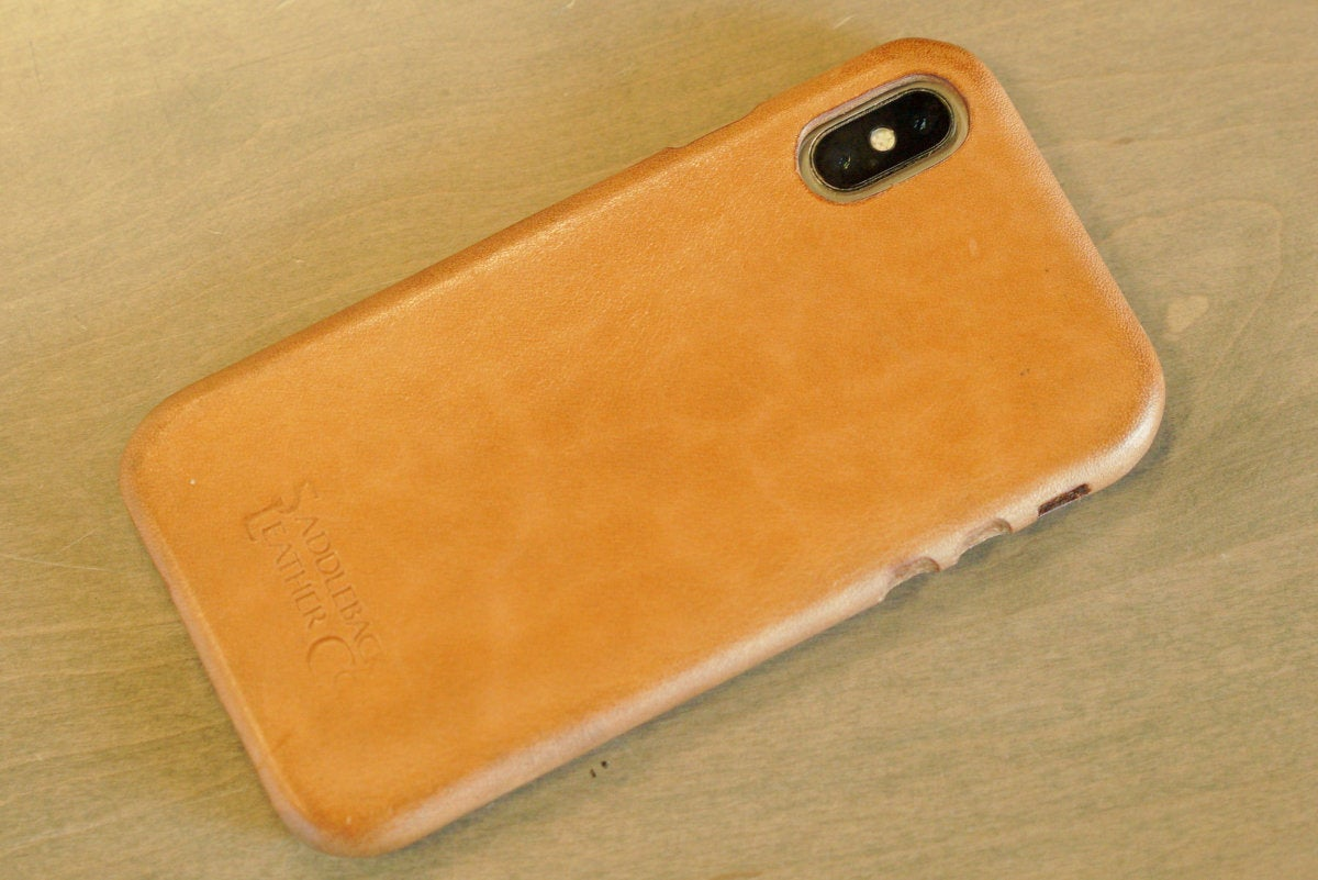 saddleback boot leather iphone case back