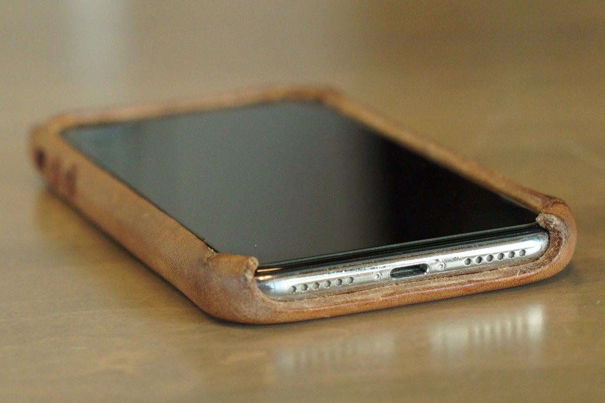 saddleback boot leather iphone case bottom
