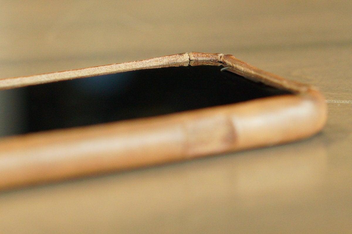 saddleback boot leather iphone case lip