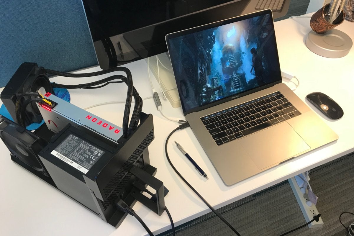 Using an eGPU with a MacBook Pro display with macOS Mojave