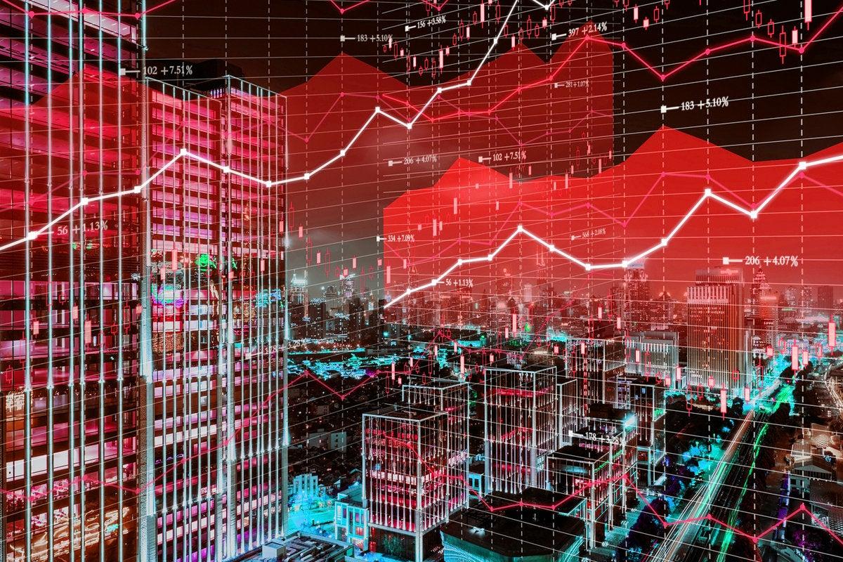 3 the vertical market fintech stock market graph