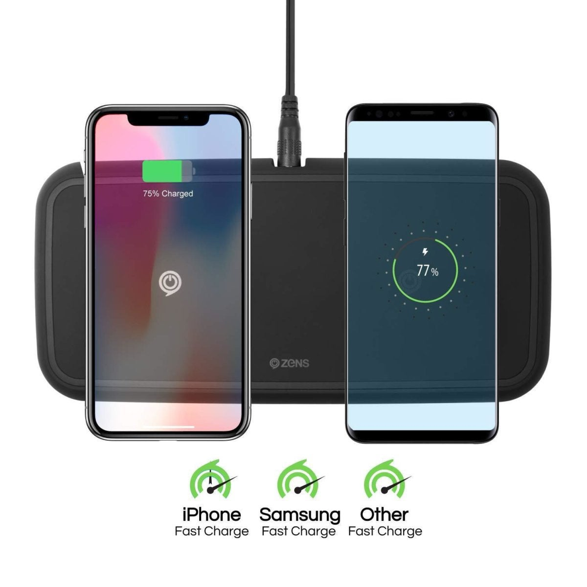 ZENS Wireless Phone Charger Dual