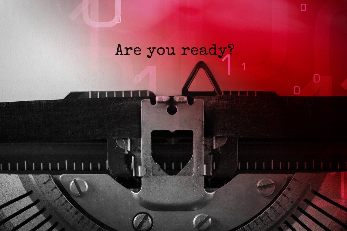 7 response plan be prepared are you ready typewriter