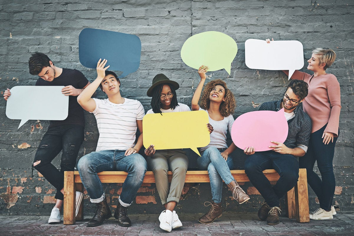 9 everyone speaks speech balloons have a voice point of view