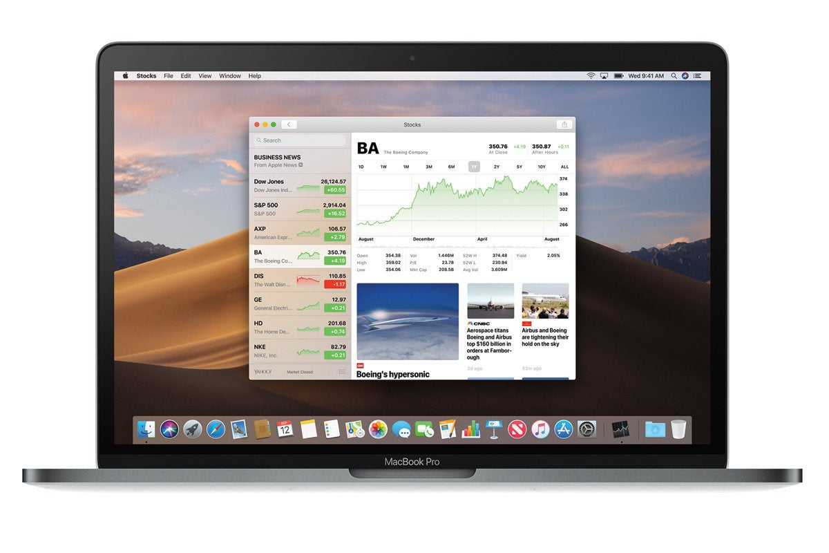 apple macbook pro macos mojave stocks