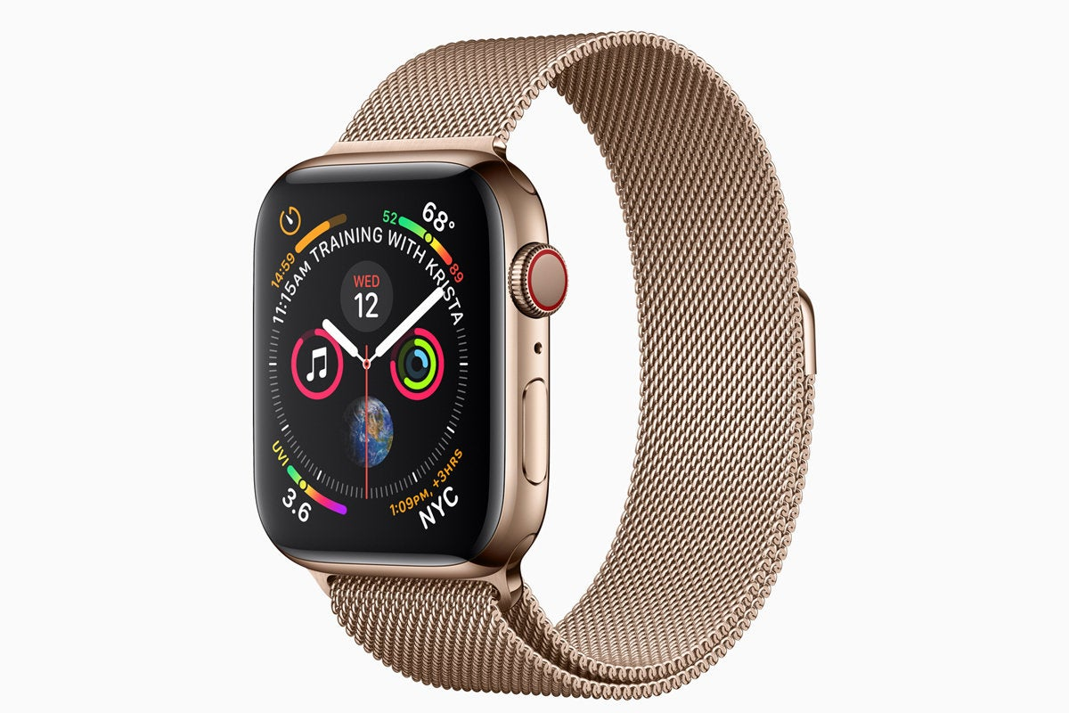 apple watch series4 gold milanese