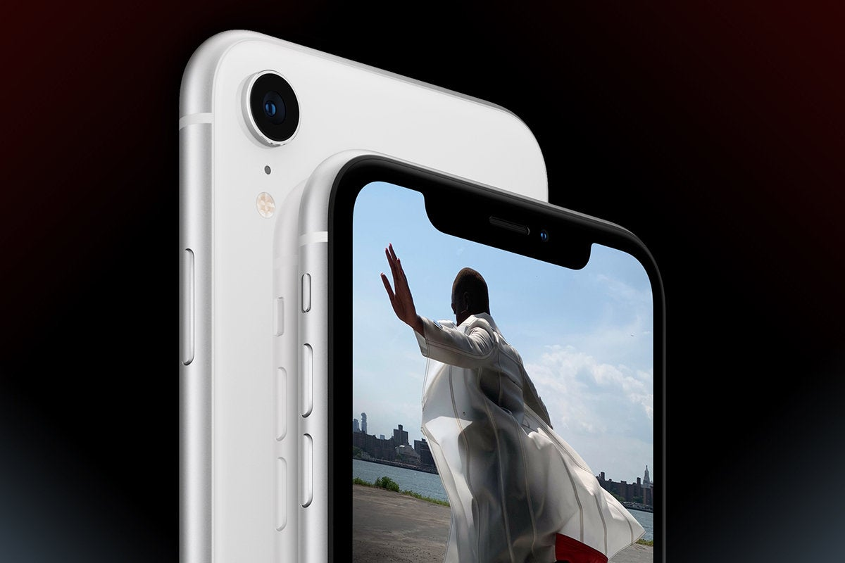 Apple iPhone XR [Белый]> Вид спереди / сзади