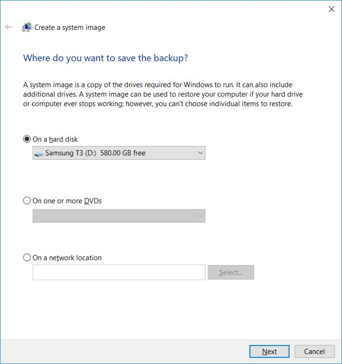 windows network backup software