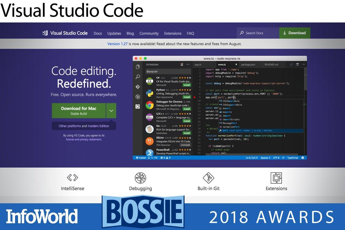 bos 2018 visual studio code