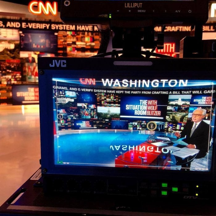 Instagram post by CNN showing the CNN Situation Room studio