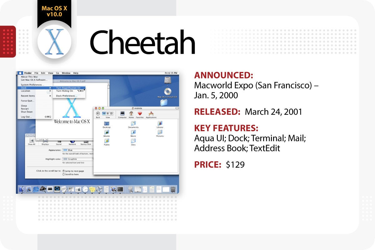 Computerworld > The Evolution of Mac OS X / macOS > Cheetah