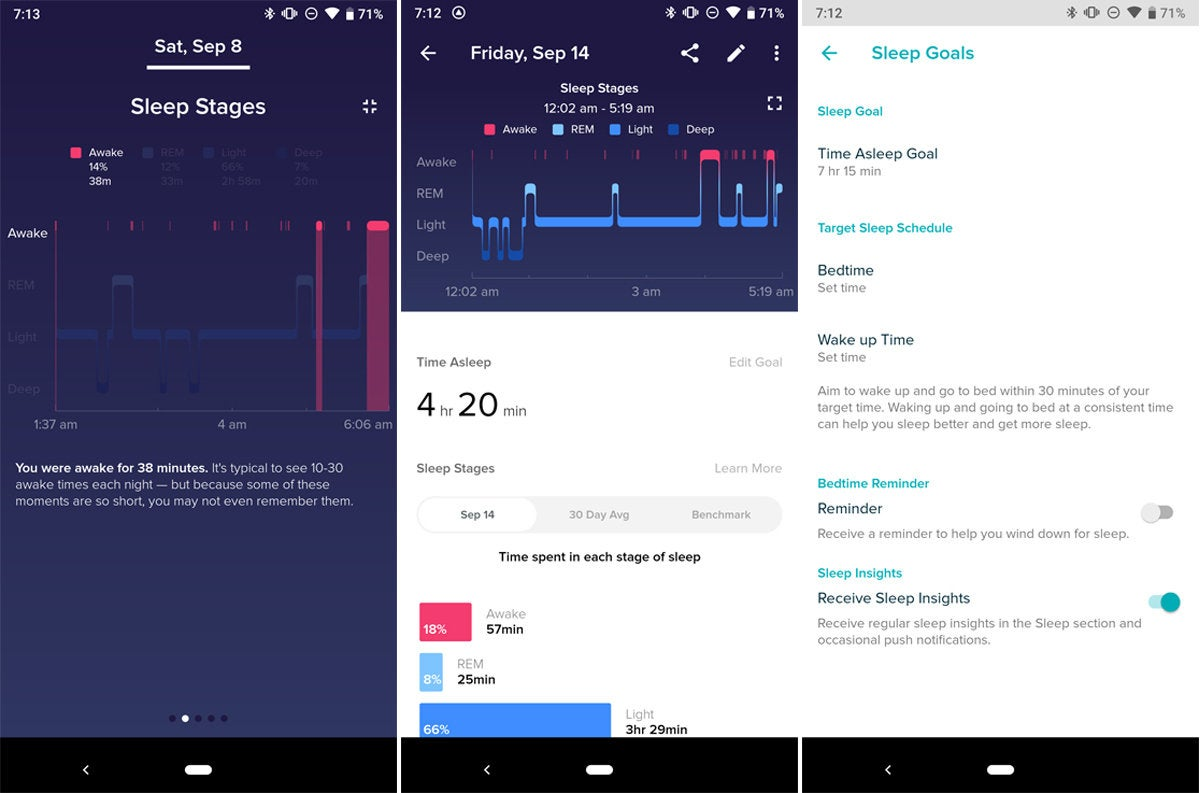 fitbit sleep tracking app
