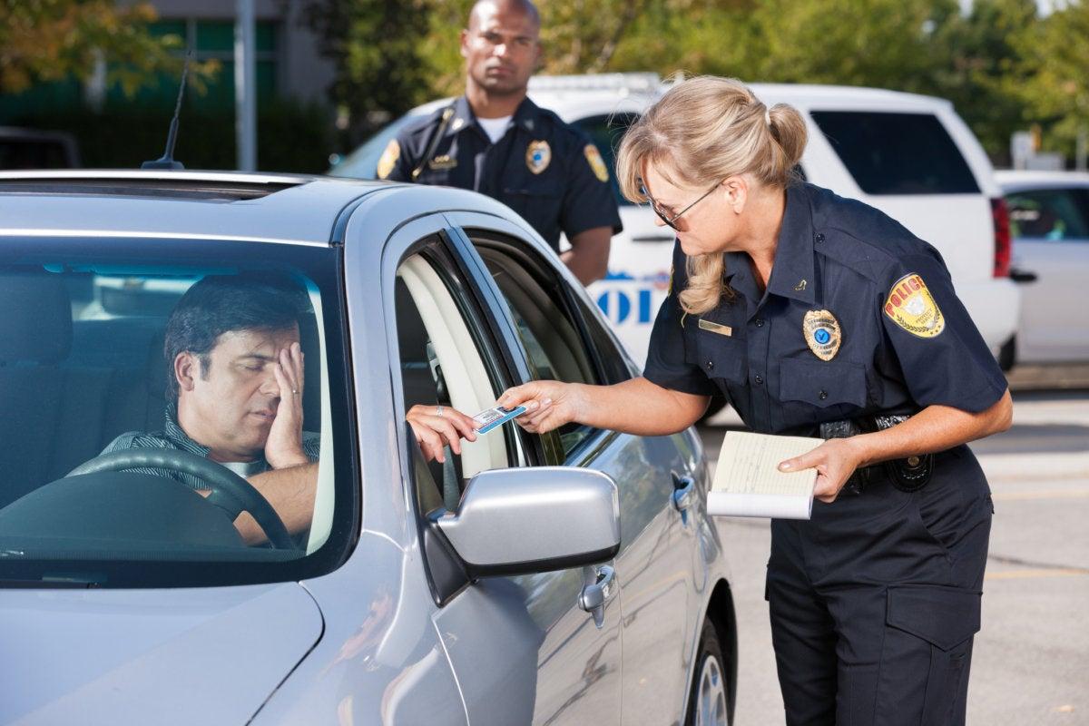 police ticket arrest