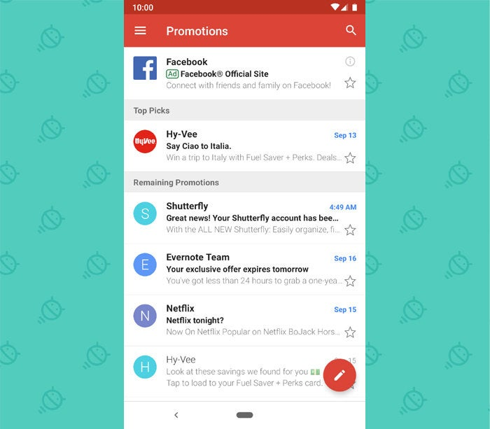 Gmail Android App Promotions Tab