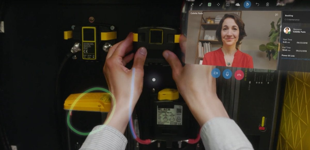 hololens dynamics first person view