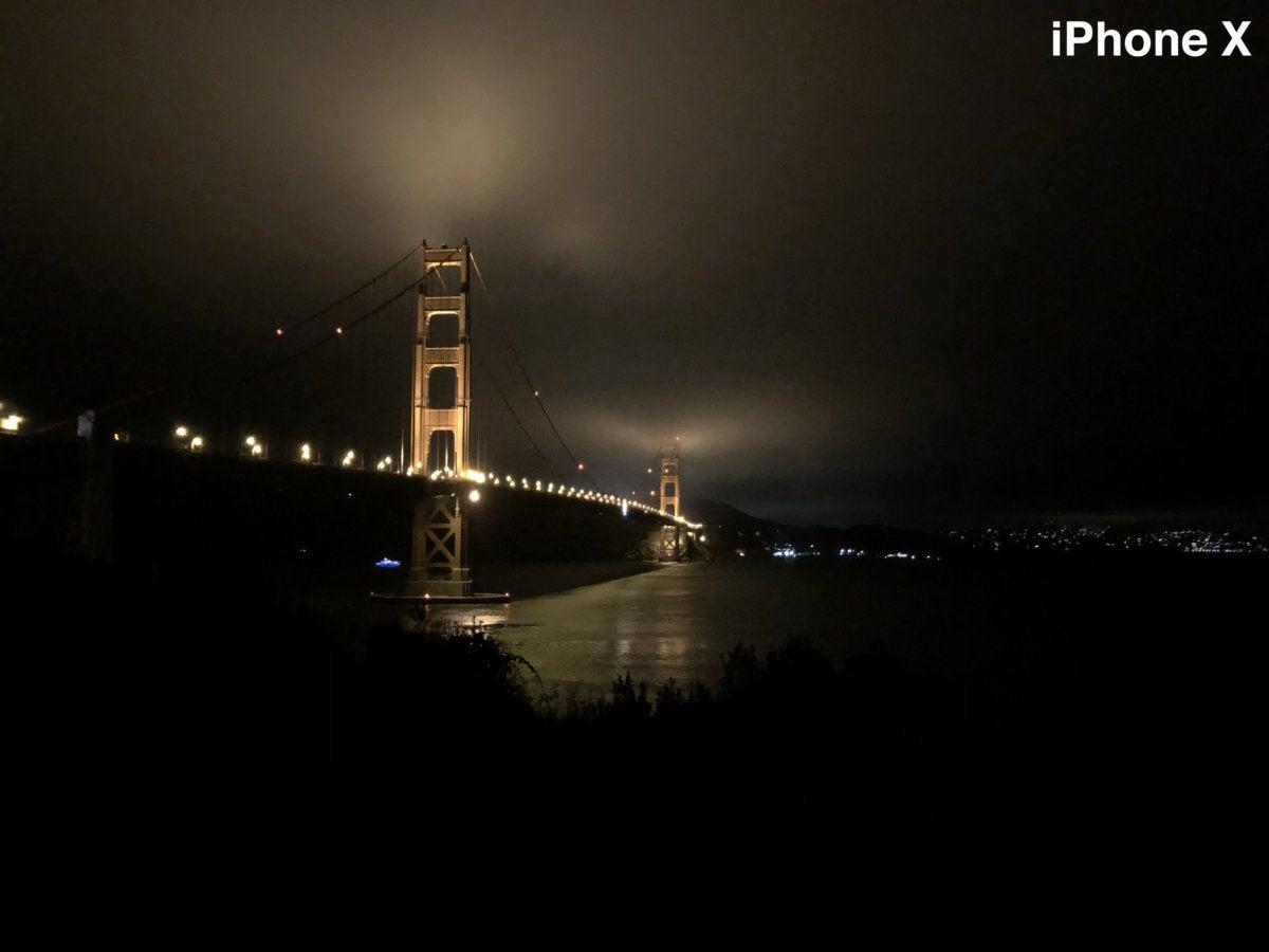 iphone x gg bridge night