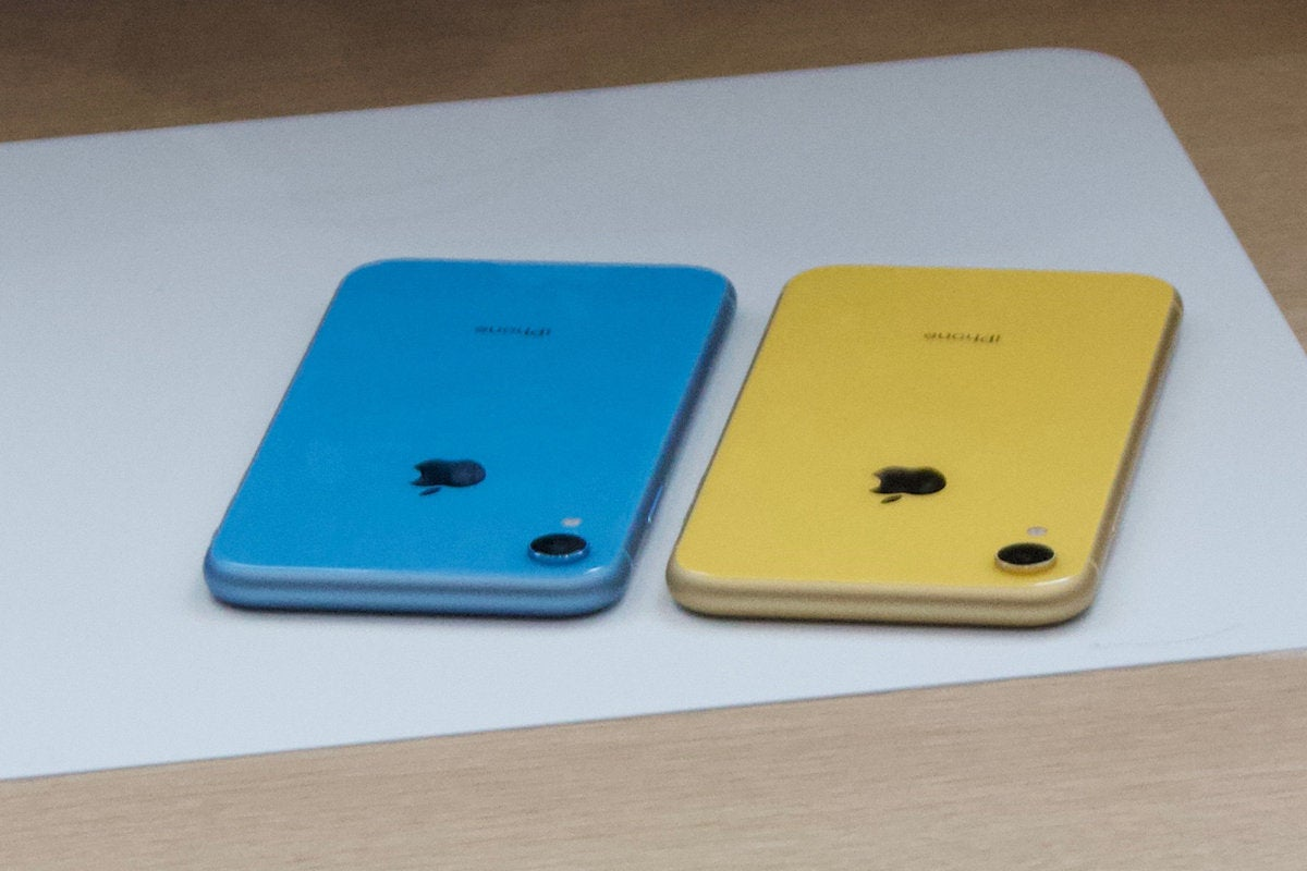 iphone xr blue yellow