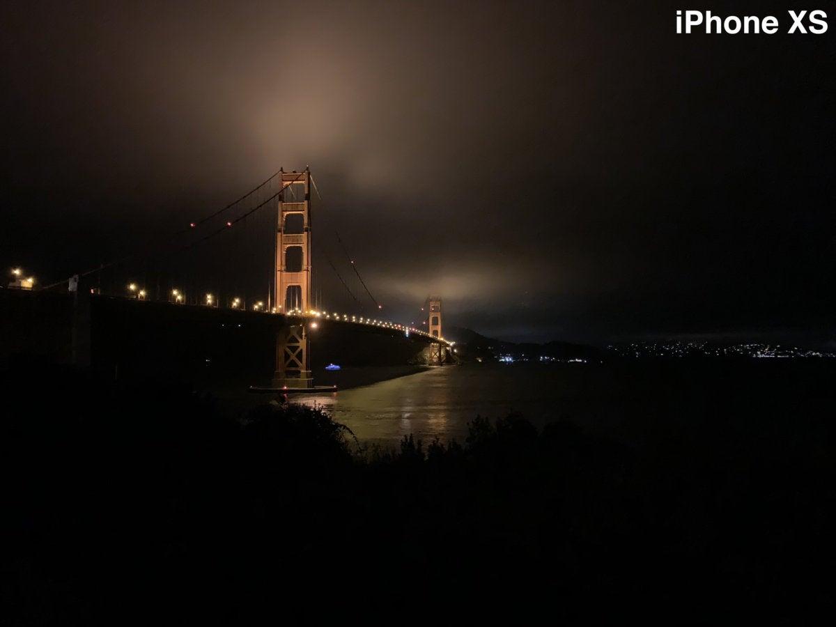 iphone xs gg bridge night