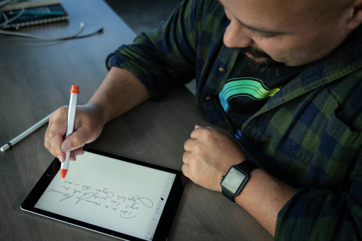 logitech crayon writing