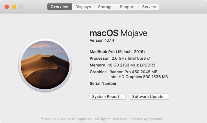 mojave about this mac