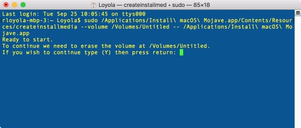 mojave install drive terminal 002