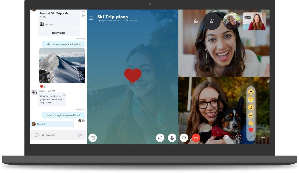 Windows 10 October 2018 Update new skype experience