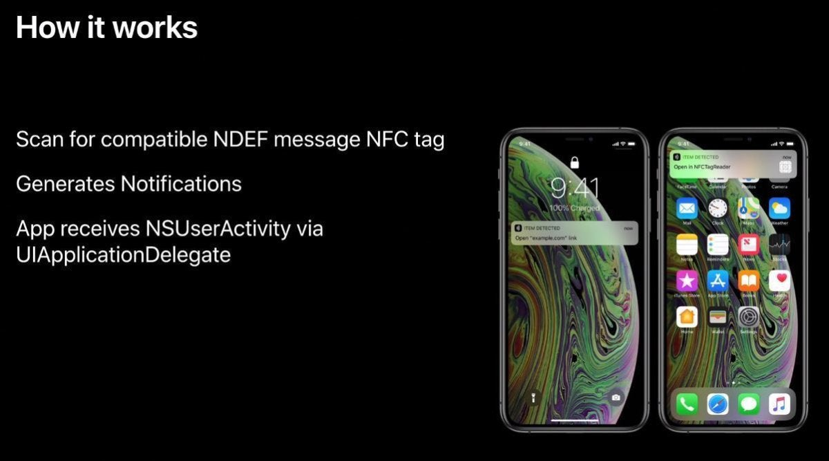 nfc background tag reading