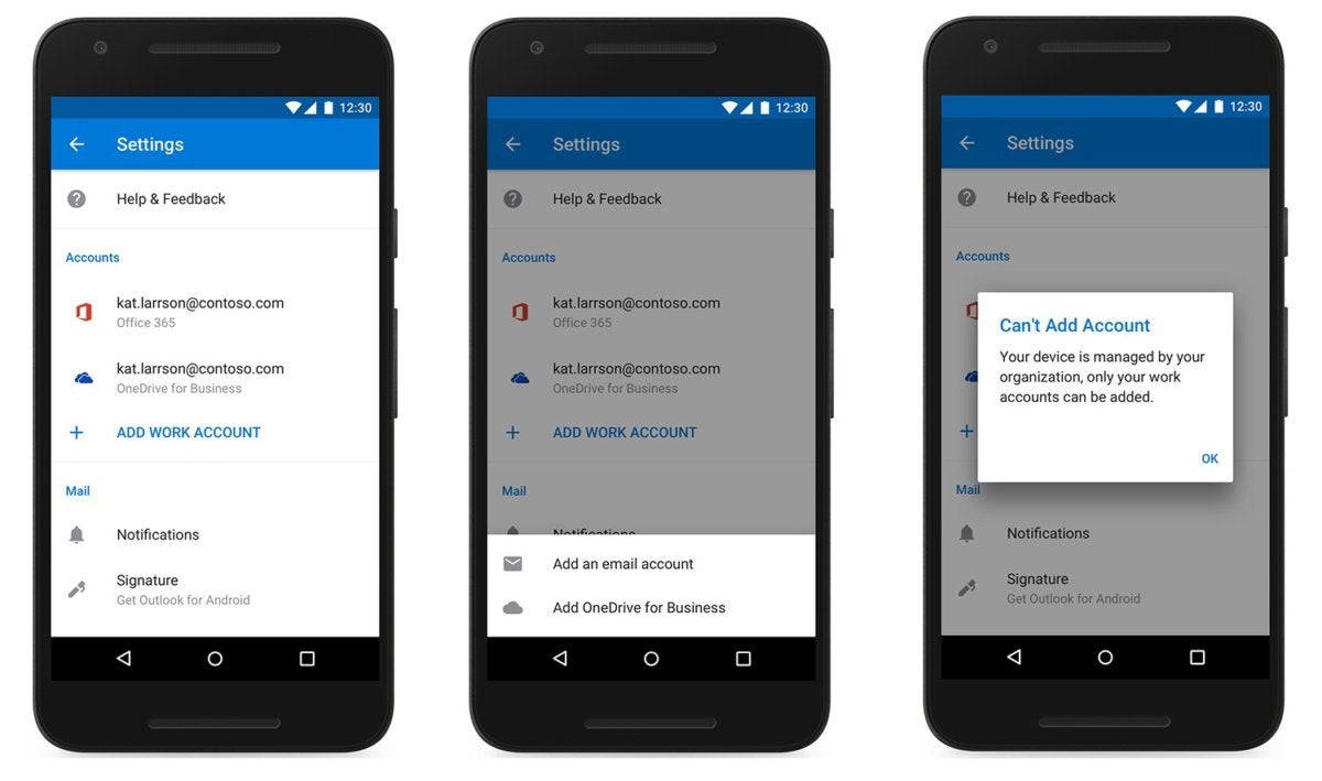 Microsoft upgrades outlook mobile but restricting personal email microsoft outlook mobile no personal accounts reheart Image collections