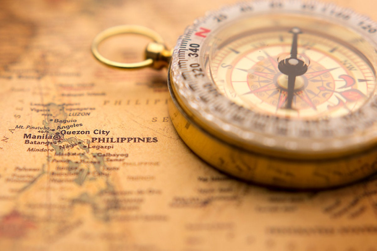 Map + compass  >  Philippines