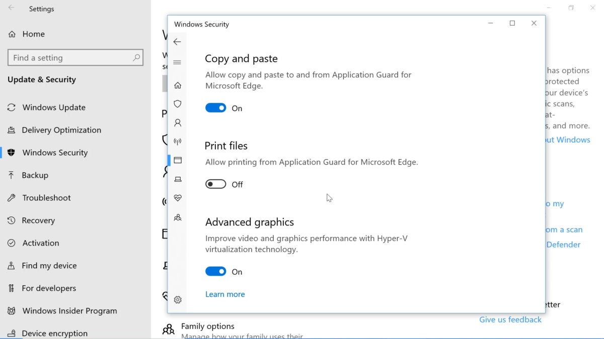 Windows Device Application Guard