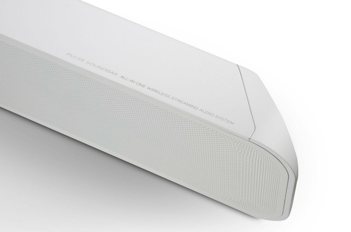 pulse soundbar white top angle view