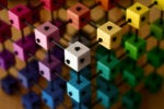 modular color cube puzzle matrix / grid