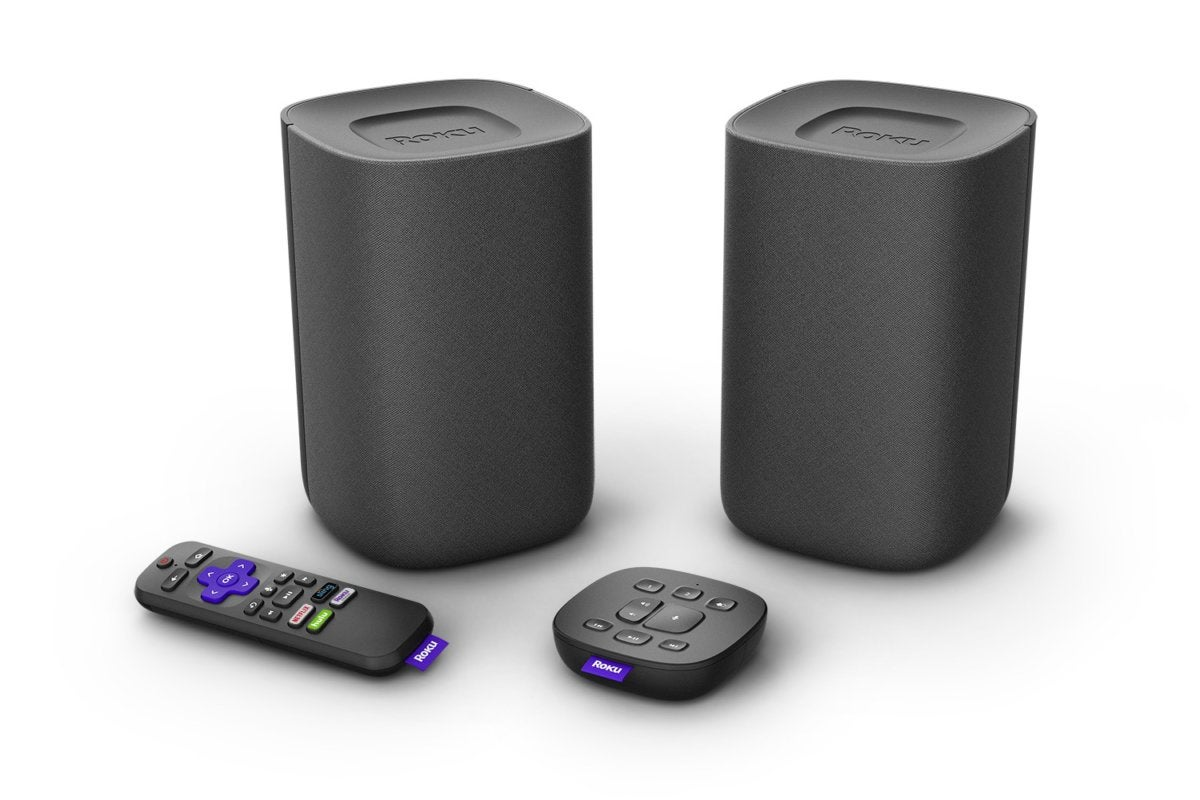 roku tv wireless speakers bundle