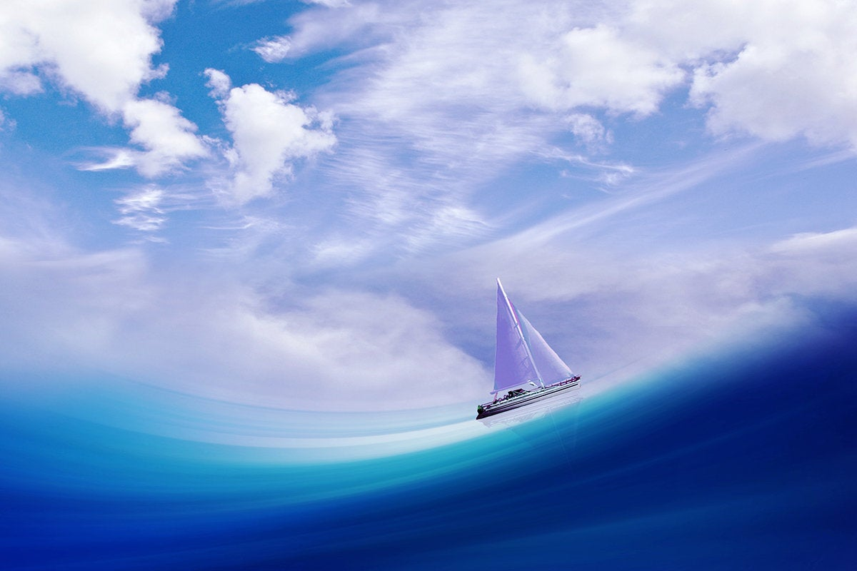 Sailboat at sea.