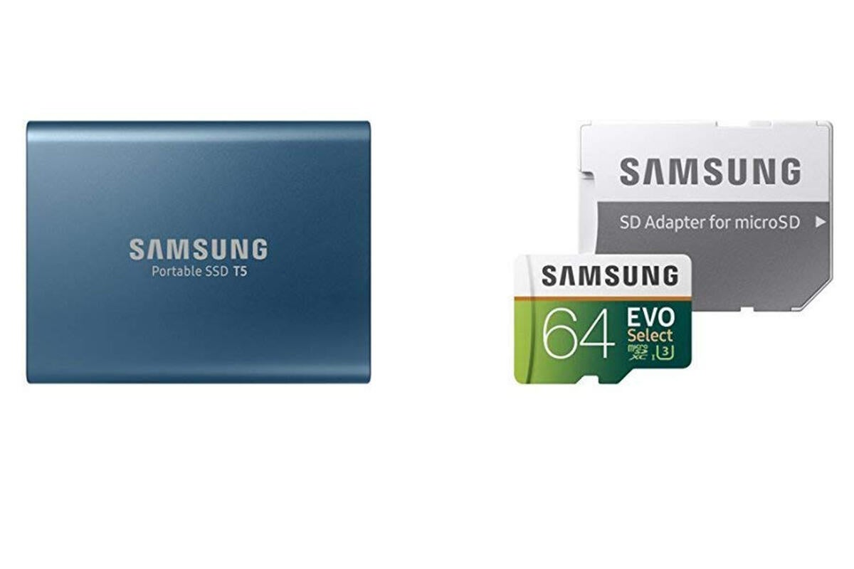 This Killer Samsung Storage Bundle Pairs A 250gb T5 Portable Ssd With A 64gb Memory Card For