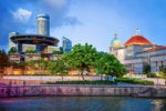 Singapore Parliament and Supreme Court at Boat Quay