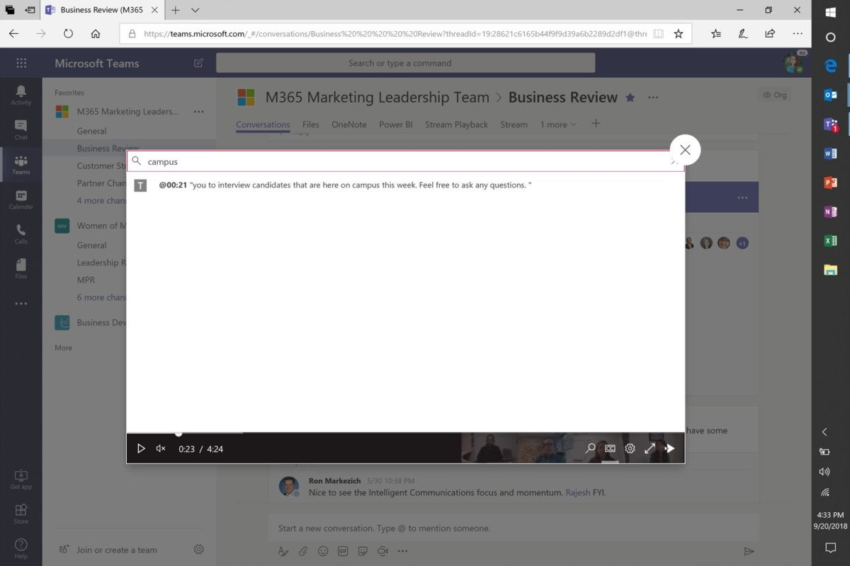 microsoft teams transcribe