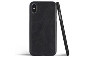 totallee thin iphone xs leather case black leather