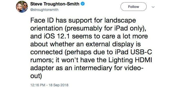 toughton smith ios121 beta tweet