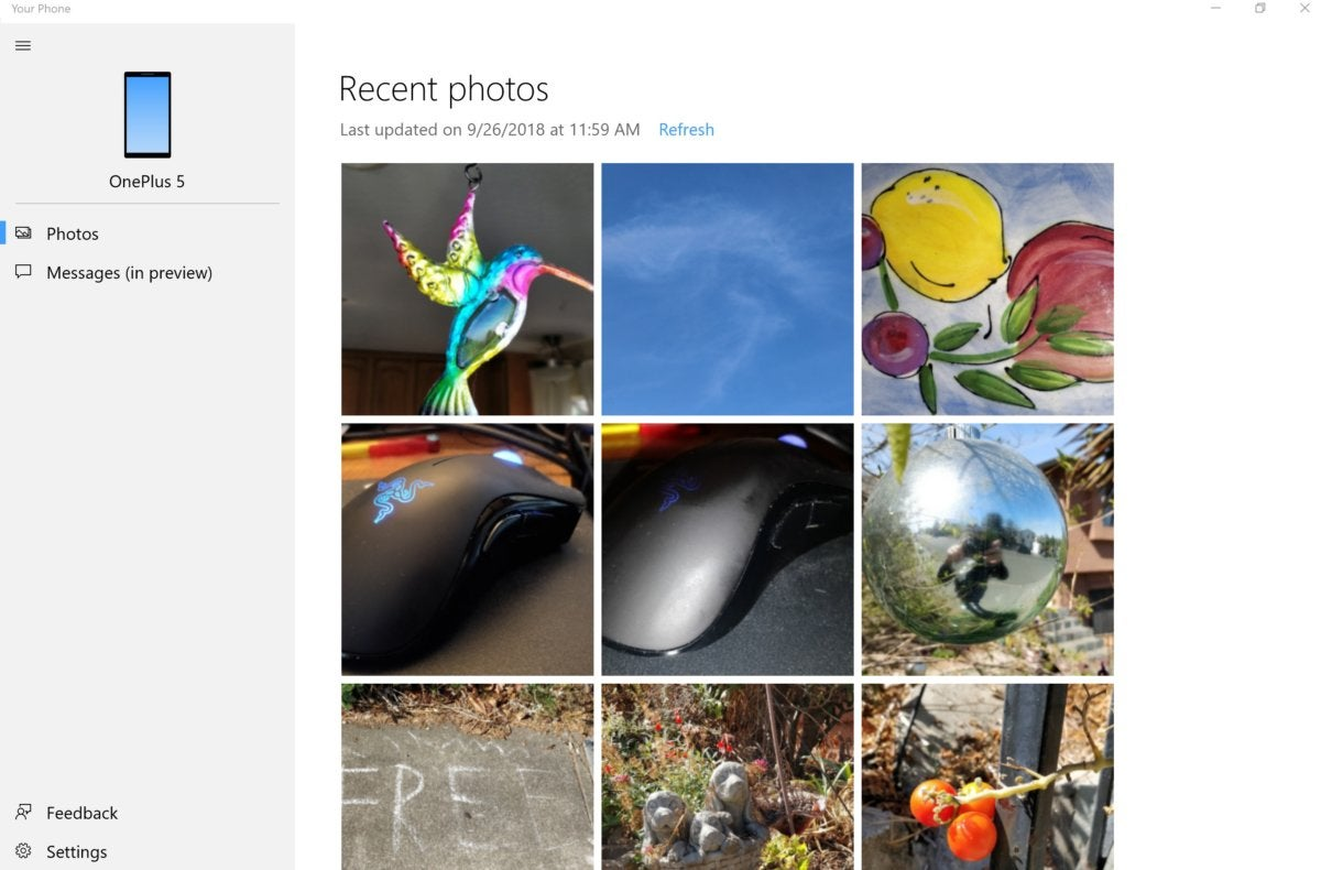 Windows 10 Oct. 2018 Update your phone photos