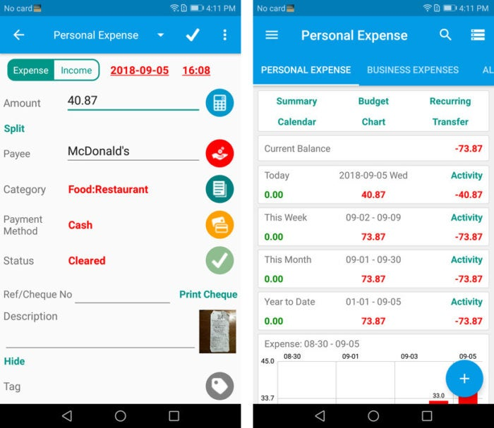 Review: 6 Android apps that track your business expenses