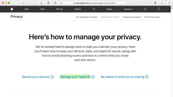 apple how to manage privacy